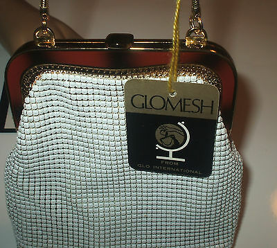 Vintage Retro Glomesh Mesh Evening Bag -Snake Chain Handle - Brand New With Tags