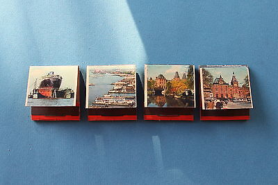 4 SURPRISING AMSTERDAM Vintage Match Books Covers