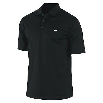 Nike Mens Golf Tour Performance Dri Fit Golf Polo in Black - Size S