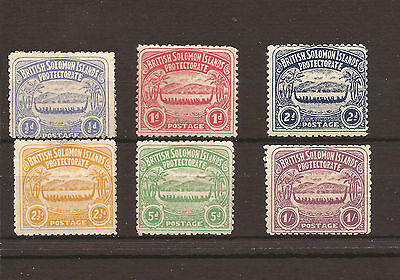 Solomon islands 1907 SG 1-7 MM Fine set of 6 Cat £250