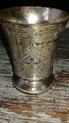 Antique Silver/Silver Plated? Cup- Markings Present~ Corbell & Company?