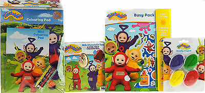 Teletubbies 4 Piece Chocolate Easter Egg / Activity Books And Colouring Set