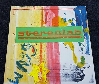 """STEREOLAB  Wow And Flutter Hand made/painted 7"""""""