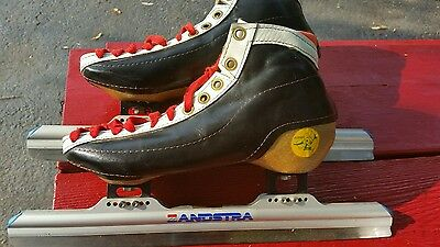 BONT Vintage Ice Skates fiberglass leather Speed Zandstra Blades Mens  size 9