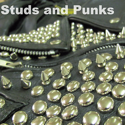 Silver Round Flat Dome Heavy Grade Original Studs Punk Clothing Leather Fashion
