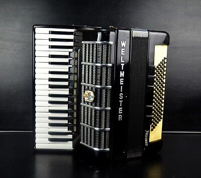 PROFESSIONAL GERMAN TOP PIANO ACCORDION WELTMEISTER CONSONA 96 bass.16 sw.~VIDEO