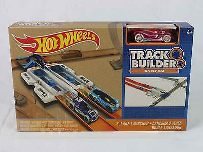 Hot Wheels Track Builder System 2-Lane Launcher - New