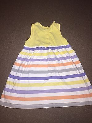 Girls Summer Striped Mothercare Dress Age 18 - 24 Months