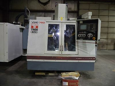 1994 Tree Model VMC 760/20 Vertical Machining Center (VMC) w/ Delta Dynapath CNC