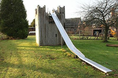 Outdoor wooden play castle with Slide