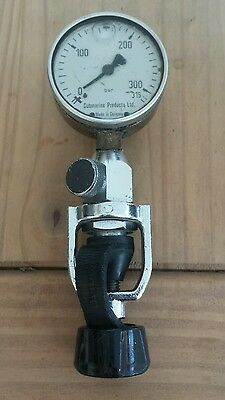Diving Bottle Pressure Guage, Made in Germany, Submarine Products, air rifle