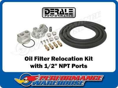"DERALE ENGINE OIL FILTER RELOCATION KIT ½"" NPT PORTS 18x1.5mm THREAD SIZE 15717"