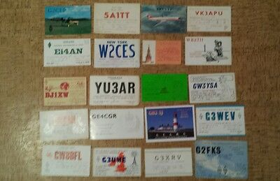 Shortwave Radio Station QSL Card X 50 1950s -2000s