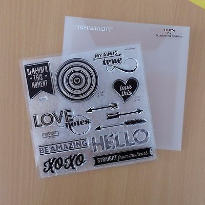 CTMH clear stamp set Zoe - new