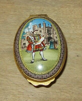 Halcyon Days Oval Enameled Box King Henry VIII Royal Legends Collection Wives