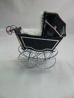 Heidi Ott Dollhouse Miniature Light 1:12 Scale Doll's Pram Black #XZ118