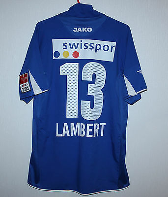 FC Luzern swiss Match Worn or Issue? shirt 06/07 #13 Lambert Jako
