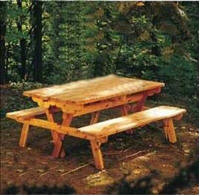 Build A Picnic Table Plan Turns Into 2 Benches Free Shipping Cad Picclick Ca