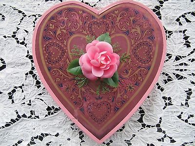 Vintage Valentine Candy Box - PINK Rose - Whitman's Chocolates