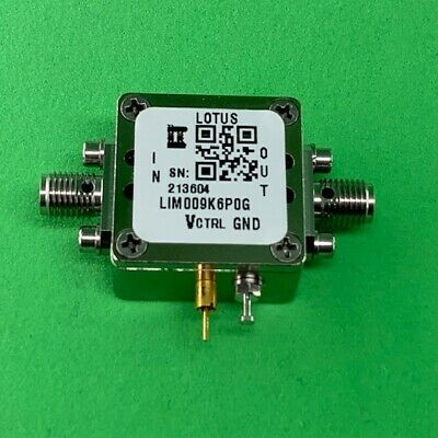 Limiter 9 kHz - 6 GHz (Adjustable threshold from +25 dBm to +35 dBm)