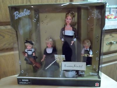 2000 Evening Recital Boxed Gift Set Barbie-Tommy-Stacie-Kelly-Awesome Clothing