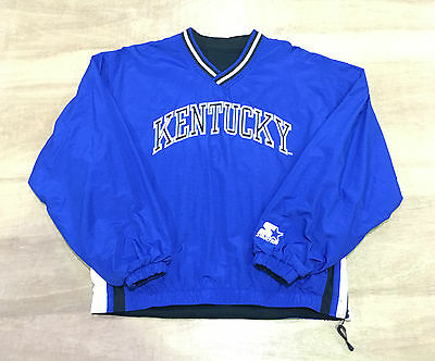 Kentucky Wildcats - Youth L / Womens 6-8  Vtg Starter Reversible Pullover Jacket