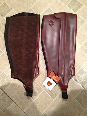 Ariat Half Chaps Cordovan Size Large Horse Equine Never Worn NWT in package