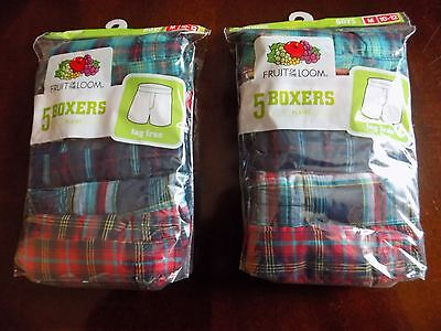 Fruit of the Loom  5 boxers boys M 10-12