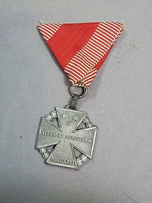 WWI Austria Hungary Kaiser Karl 1916 Troop Iron Cross Medal with Ribbon W&A