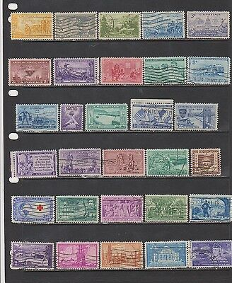 USA Used Collection of Early 1950's Commemoratives