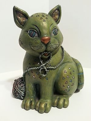 "Cherison Ceramic ""jazzy"" Cat ""piggy Bank"" Design By Nancy Boden"