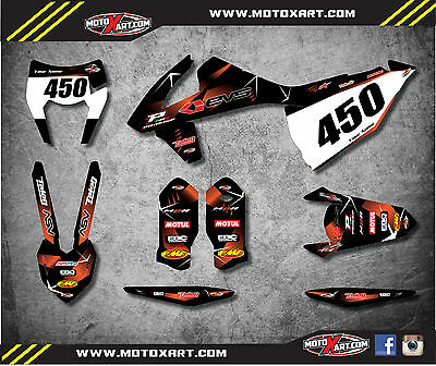 KTM EXC 2017 Custom graphics kit BARBED style decals stickers