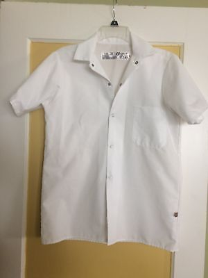 Chef Design Chef's Shirt Short Sleeve White Snap Front Size S