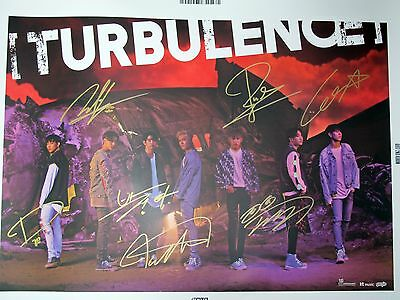 GOT7 autographed 2016 2nd album  Flight Log:Turbulence poster B version