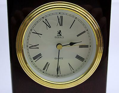 CLASSIC Henry Birks & Sons Ltd MANTLE CLOCK all original Brass with cherry wood