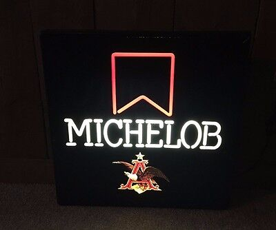 Michelob Beer Faux Neon Lighted Sign Bar Man Cave Pub Advertising
