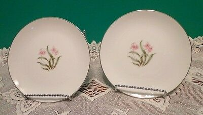 2 Bread Plates Grandcrest PInk Orchard