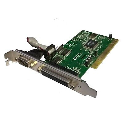 Carte PCI 1 Port Serie RS232 1Parallele EPP-EPC MOSCHIP FG-PIO9835-2S1P NM9735