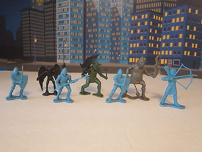 Lot Of Dfc Fantcy Figures Knights And Worriers Moulded Plastic