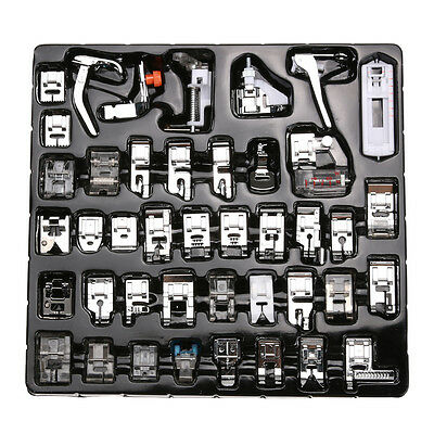 Pro 32pcs Domestic Sewing Machine Presser Foot Feet for Brother Janome Singer