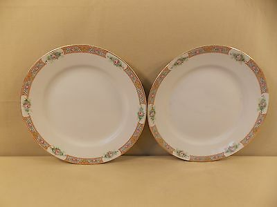 "Antique Noritake China ""The Luzon"" 2 Dinner Plates"