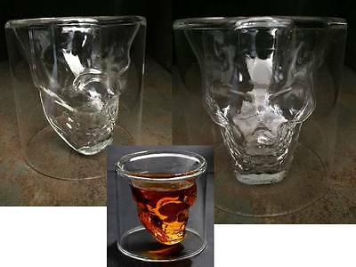 4 3D Skull Head Glass75ml Shot Whiskey Tea Skeleton Cup Party Gift Boxed Novelty
