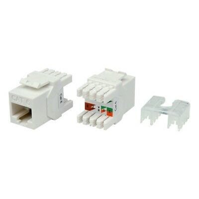 12 x CAT6a RJ45 Keystone Jack Socket Wall Patch Panel Modular surface Mount WHT