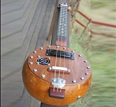 Gourd Guitar, 3 string electric cigar box guitar design, by G>funk Art