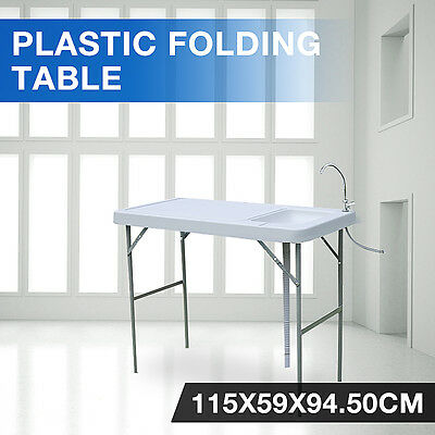 Foldable Portable Fish Hunting & Cutting Table Camping Sink Fauce outdoor party