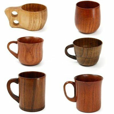 1pc Wooden Cup Primitive Handmade Natural Coffee Tea Beer Juice Milk Mug Cups
