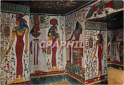 CPM Luxor Queens Valley Painted Relief in the Tomb of Nefertari