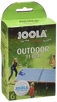 Joola Outdoor 6ER Table Tennis Balls Pack of 6 - White