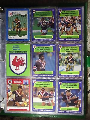 SYDNEY ROSTERS ,1989 90 91  STIMOROL and NRL SELECT RUGBY LEAGUE CARDS