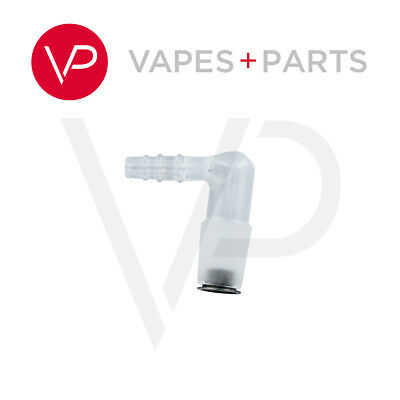 Arizer Extreme Q Vaporizer Glass ELBOW Adapter with Rimmed Screen Vtower OEM
